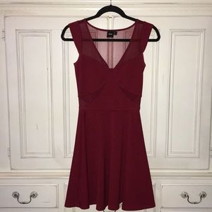 Gorgeous red dress with mesh detailing